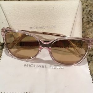Michael kors sunglasses in pink and gold!